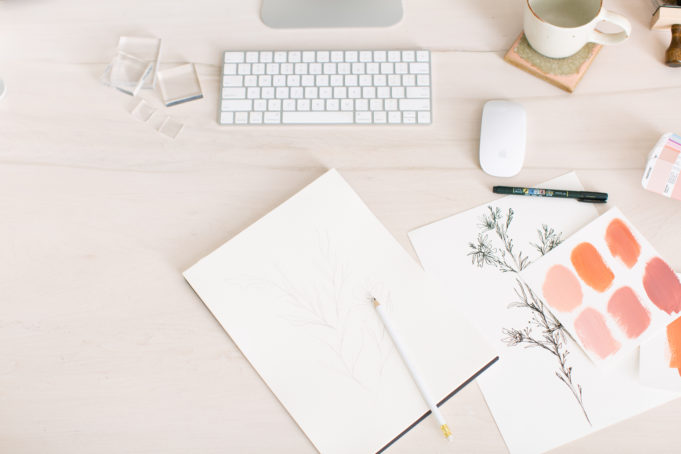 how to choose publication flatlay